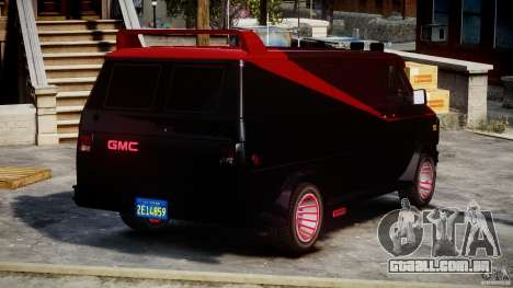 GMC Van G-15 1983 The A-Team para GTA 4 interior