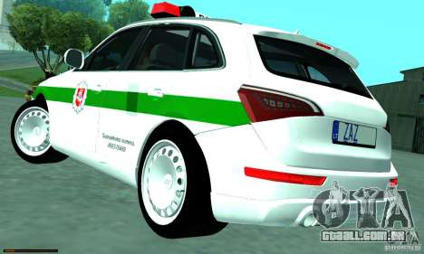 Audi Q5 TDi - Policija para GTA San Andreas esquerda vista