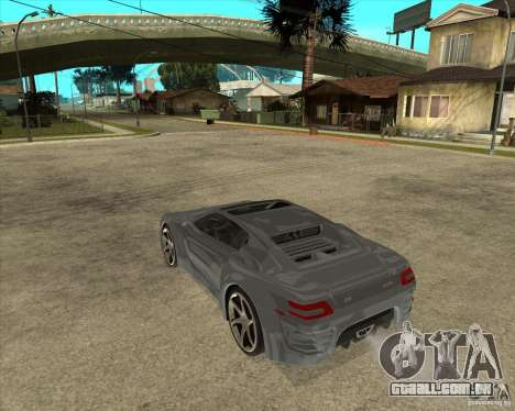 Teoria de Barss Grand turismo para GTA San Andreas esquerda vista