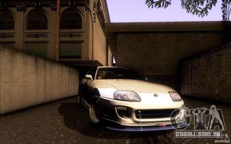 Toyota Supra D1 1998 para GTA San Andreas vista superior