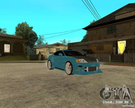 Hyundai Tibuton V6 GT para GTA San Andreas vista traseira
