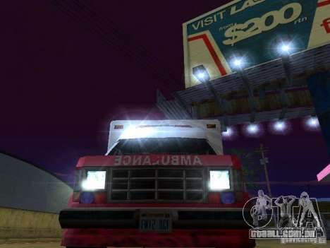 Ambulance 1987 San Andreas para GTA San Andreas vista interior