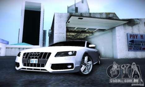 Audi S5 para vista lateral GTA San Andreas