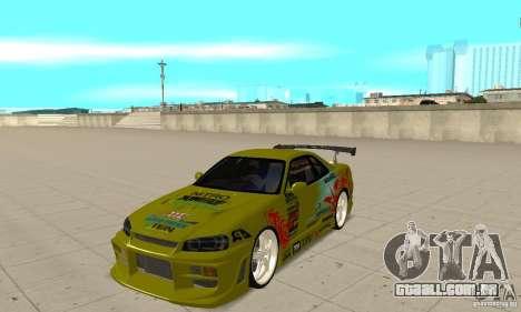 Nissan Skyline R34 GTR para GTA San Andreas