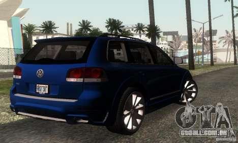 VolksWagen Touareg R50 JE Design Tuning para GTA San Andreas traseira esquerda vista