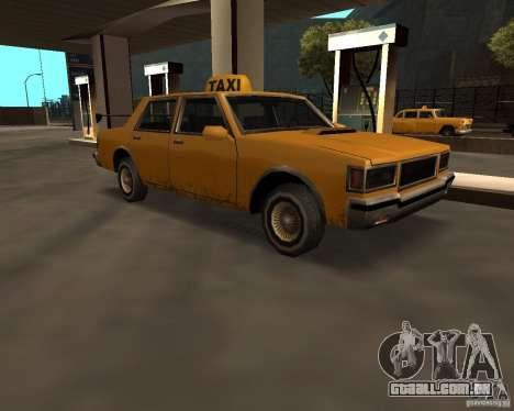 LV Taxi para GTA San Andreas traseira esquerda vista