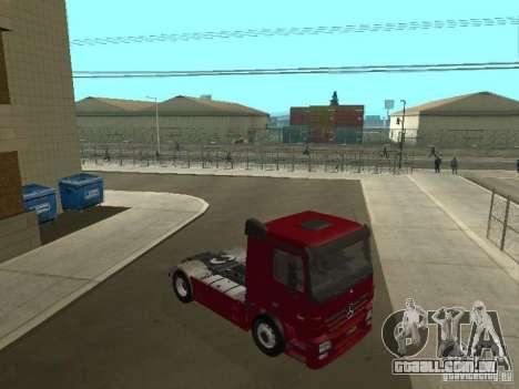 Mercedes Actros Tracteur 3241 para GTA San Andreas vista traseira
