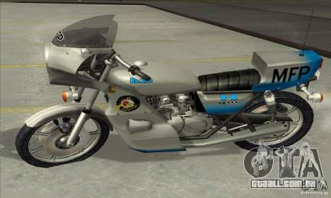 Kawasaki KZ1000 MFP para GTA San Andreas vista traseira