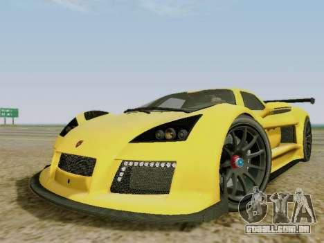 Gumpert Apollo S 2012 para GTA San Andreas esquerda vista