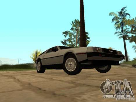 DeLorean DMC-12 1982 para GTA San Andreas vista direita