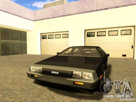 DeLorean DMC-12 V8 para GTA San Andreas vista interior