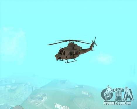 UH-1 Iroquois para GTA San Andreas vista traseira