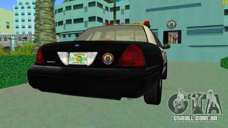 Ford Crown Victoria Police 2003 para GTA Vice City deixou vista