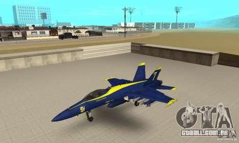 Blue Angels Mod (HQ) para GTA San Andreas
