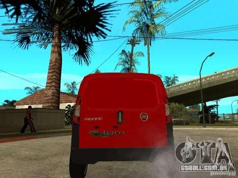 Fiat Fiorino Combi para GTA San Andreas traseira esquerda vista