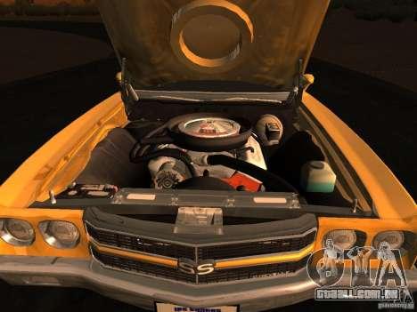 Chevrolet Chevelle SS 1970 v.2.0 pjp1 para GTA San Andreas traseira esquerda vista