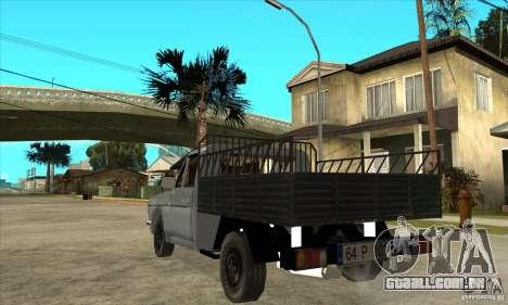 Anadol Pick-Up para GTA San Andreas traseira esquerda vista