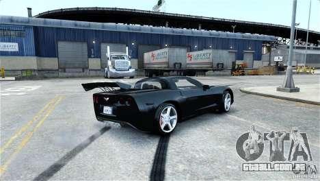 Chevrolet Corvette C6 Convertible v1.0 para GTA 4 rodas