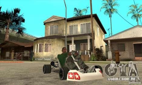 Stage 6 Kart Beta v1.0 para GTA San Andreas vista traseira