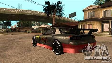 Mazda RX7 Tuned para GTA San Andreas traseira esquerda vista