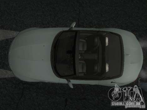 BMW Z4 para GTA San Andreas vista inferior