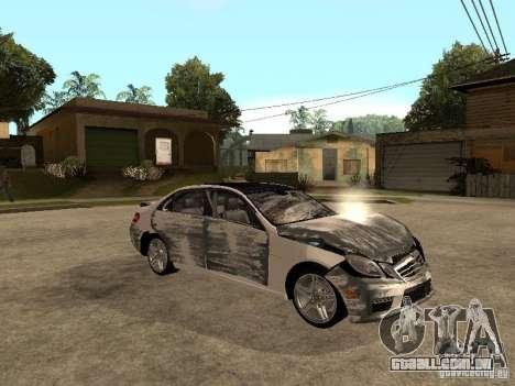 Mercedes-Bens e63 AMG para GTA San Andreas vista superior
