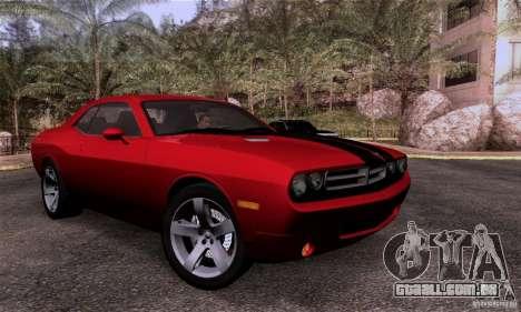Dodge Challenger SRT8 para GTA San Andreas vista interior