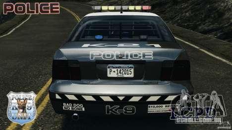 LCPD K9 Unit para GTA 4 vista inferior