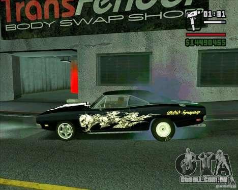 Dodge Charger R/T 69 para GTA San Andreas esquerda vista