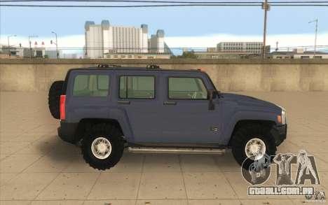 Hummer H3 para GTA San Andreas esquerda vista