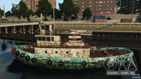 Realistic Rusty Tugboat para GTA 4 esquerda vista