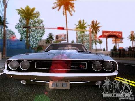 Dodge Challenger HEMI para GTA San Andreas vista interior