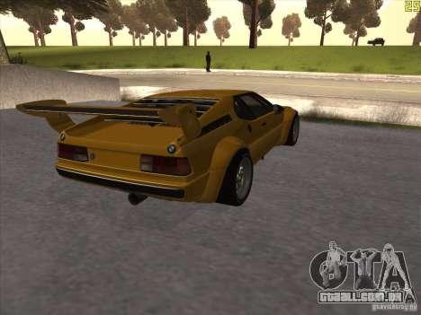 BMW M1 Procar para GTA San Andreas vista direita