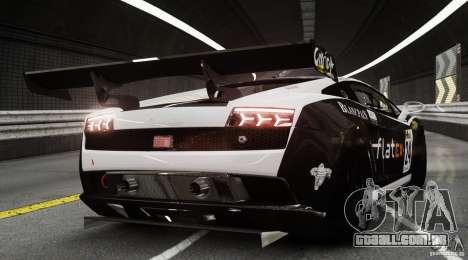 Lamborghini Gallardo LP560-4 GT3 2010 para GTA 4 traseira esquerda vista