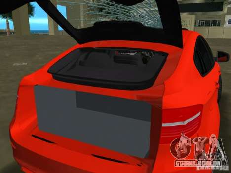 BMW X6M para GTA Vice City deixou vista