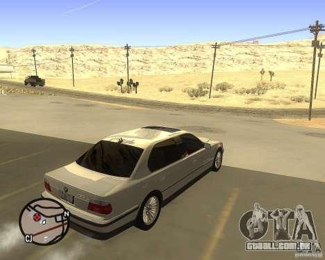 BMW 750il Limuzin para GTA San Andreas traseira esquerda vista