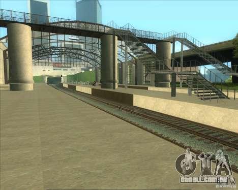 As plataformas elevadas em estações ferroviárias para GTA San Andreas por diante tela