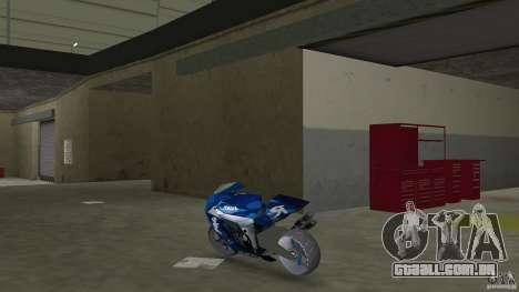Yamaha Sportbike beta 1.0 para GTA Vice City vista traseira esquerda