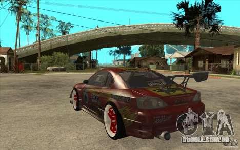 Nissan Silvia HKS Genki para GTA San Andreas traseira esquerda vista