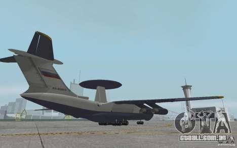 Berijew A-50 Mainstay para GTA San Andreas vista traseira