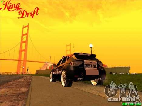 Subaru Impreza WRX Police para GTA San Andreas esquerda vista