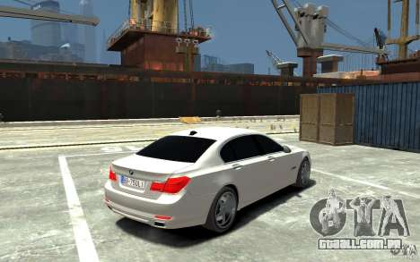 Bmw 750 LI v1.0 para GTA 4 vista direita