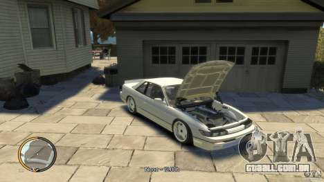 Nissan Silvia s13 Drifted v1.0 para GTA 4 traseira esquerda vista