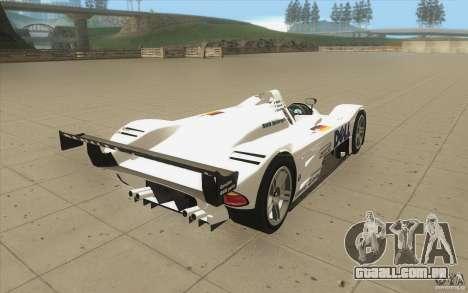 BMW V12 LeMans - Stock para vista lateral GTA San Andreas