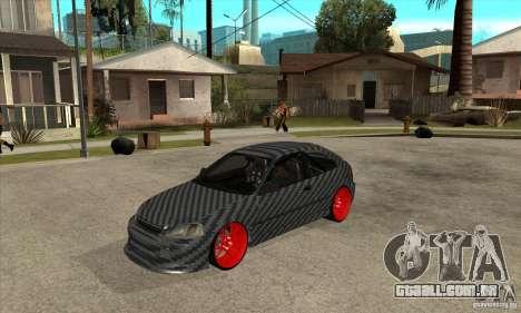 Honda Civic Carbon Latvian Skin para GTA San Andreas esquerda vista