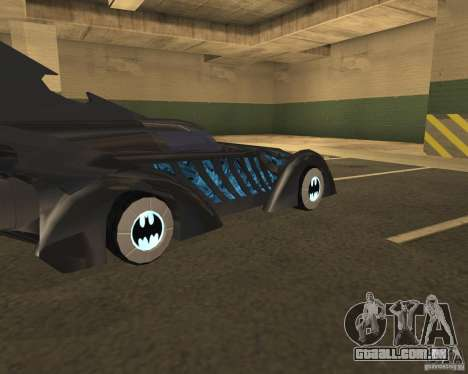 Batmobile 1995 para GTA San Andreas vista direita