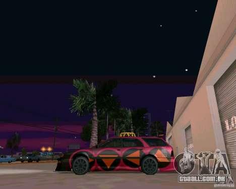 Stratum Tuned Taxi para GTA San Andreas traseira esquerda vista