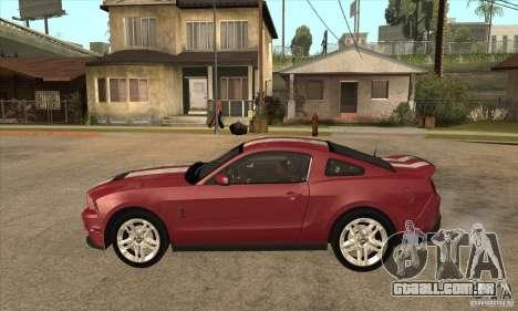 Shelby GT500 2010 para GTA San Andreas esquerda vista