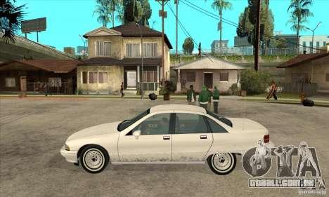 Chevrolet Caprice 1991 para GTA San Andreas vista direita