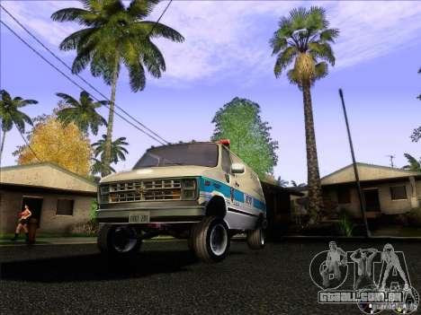Chevrolet VAN G20 NYPD SWAT para GTA San Andreas